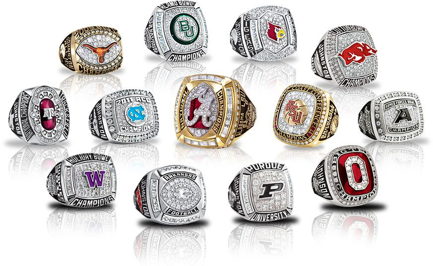 smaller championship trophy square size football fantasy league champion rings ring image