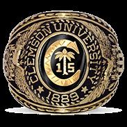 Clemson University His Rings