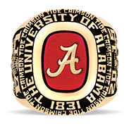 The University Of Alabama His Rings