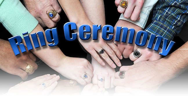 How is a class ring ceremony done?